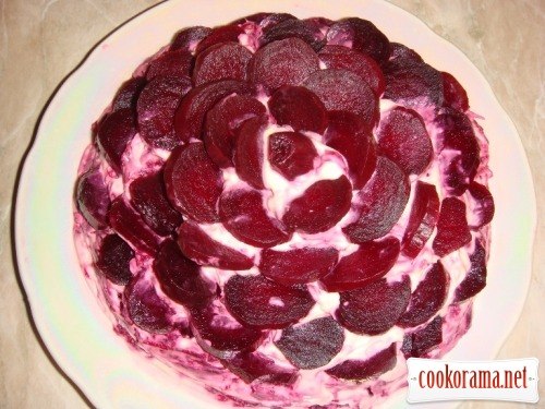 """Salad """"Black rose"""""""