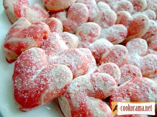 Пісочне печиво «Полум'яні серця»
