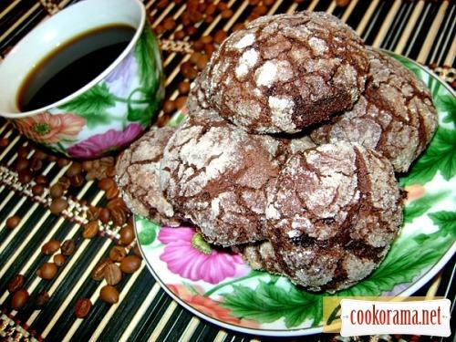 Шоколадное печенье с кардамоном «С трещинками»