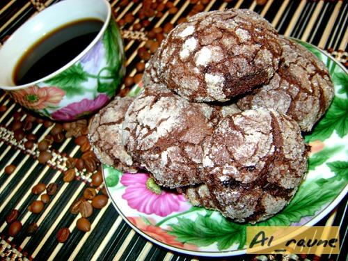 """Шоколадное печенье с кардамоном """"С трещинками"""""""