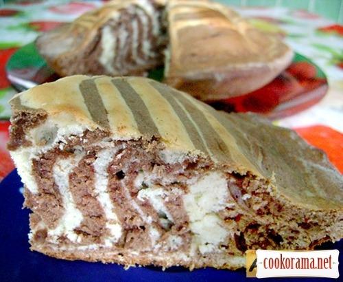 Легкий, красивый и вкусный пирог «Зебра»