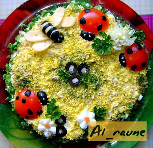 Весенний салат рецепт фото