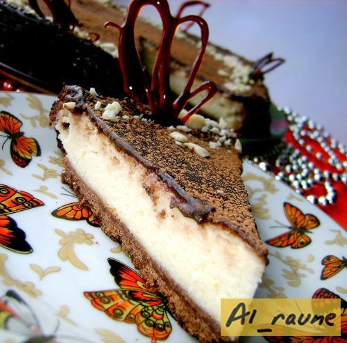 Сирний торт «а-ля Чізкейк» з шоколадним ганашем