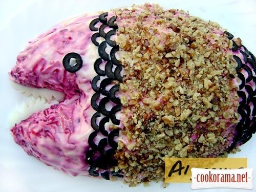 Первоапрельский салат «Красная рыба в норковой шубе:)))»
