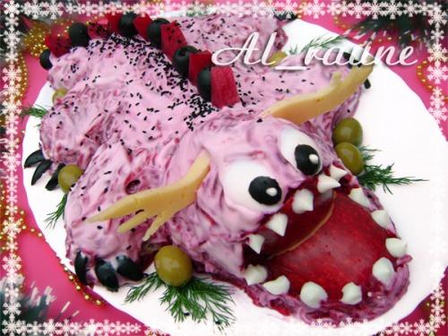 Праздничный салат «Дракончик»