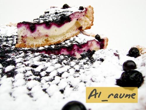 Сирний пиріг «Мої чорничні ночі» :)