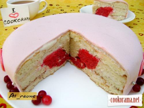 рецепт торт как сделать сердце внутри торта