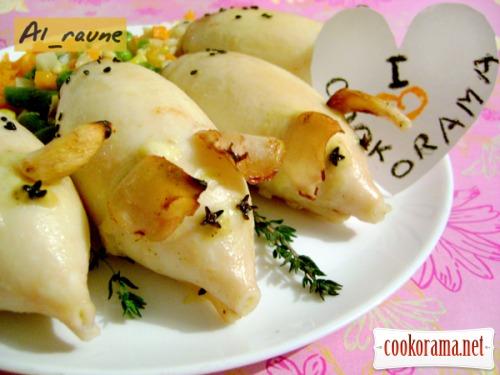 Фаршированные кальмары «Аппетитные хрюшки:)))»