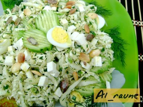 Салат из пекинской капусты и оливок
