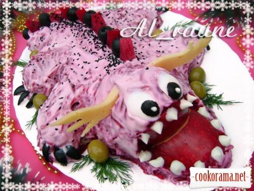 """Праздничный салат """"Дракончик"""""""