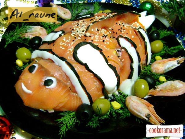 """Салат с морепродуктами """"В гостях у Немо"""":)"""