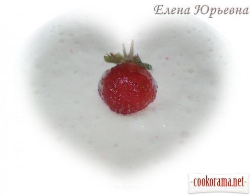 Сирний десерт з фруктами