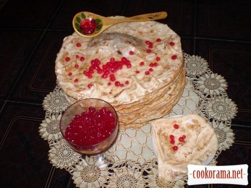 Торт «Млинці з ікрою»