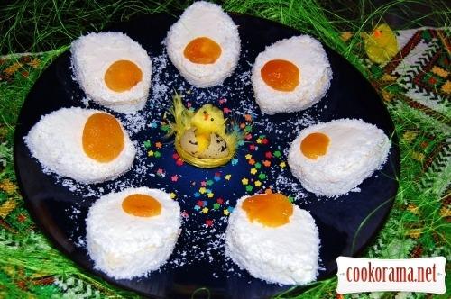 Пирожное «Пасхальные яички»
