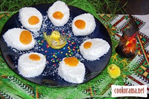 Пирожные «Пасхальные яички»