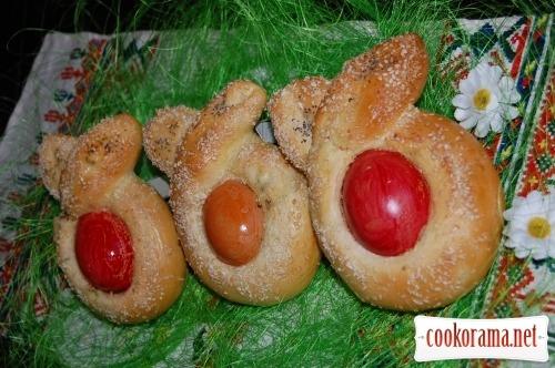 Пасхальные яйца в платочках
