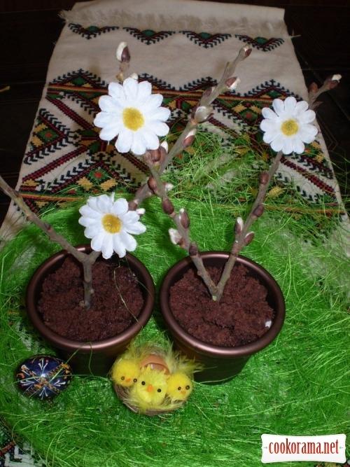 Десерт «Пасхальное деревце»