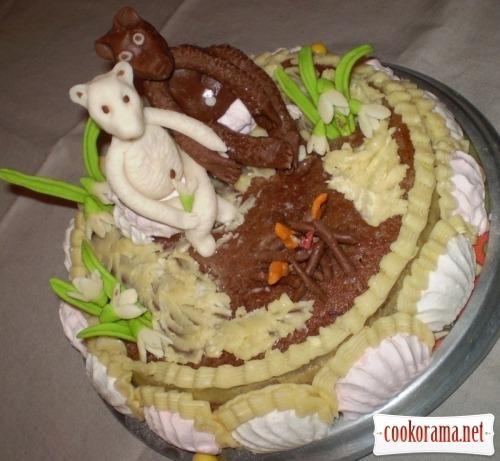 Торт «Пришла весна»