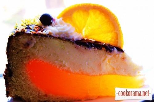 Торт «Помаранчевий сирник»