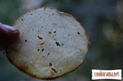 Картофельные чипсы + бонус - яблочные чипси
