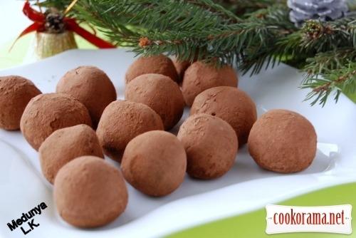 Chocolate sweets with hazelnut