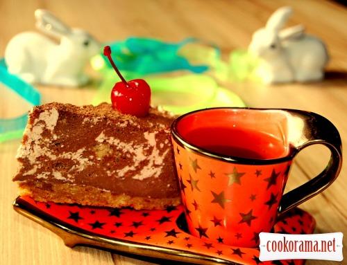 «Мраморный» торт без выпечки
