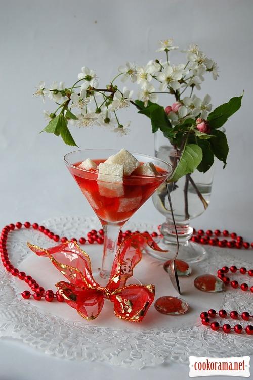 Десерт «Белое в красном»