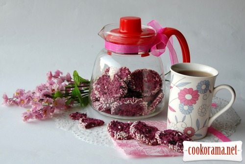 Purple currant cookies
