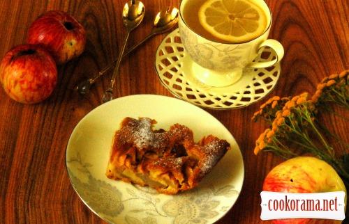 Пирог «Яблоки в перине»