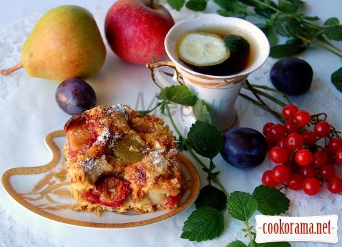 Пиріг «Яблука в перині -3» (без жиру)