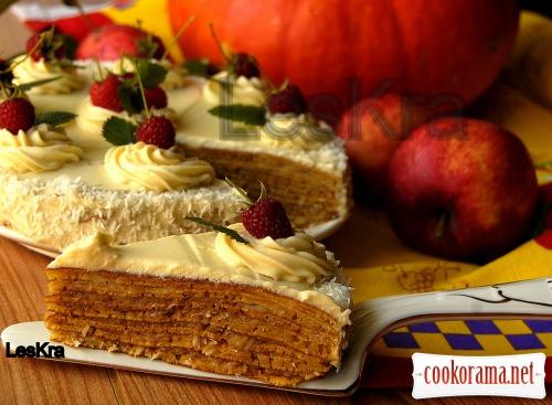 Тыквенный тортик