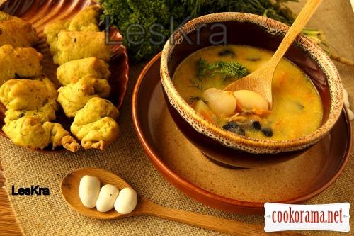 Густой фасолево-грибной суп для Милы