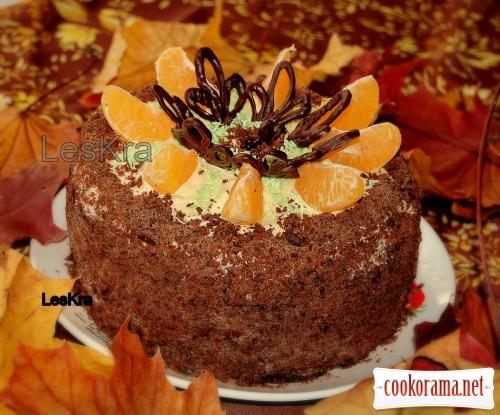 Шоколадно-ореховый торт с йогуртовым кремом