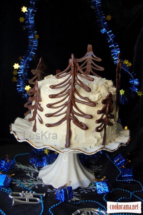 Торт «Ніч перед Різдвом» або «Гори, свічечко, гори»