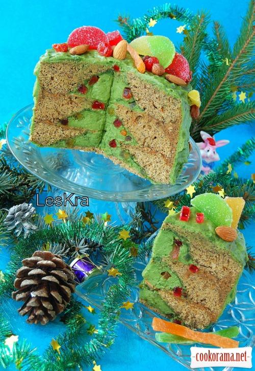 Торт «Раз, два, три - ялинко, гори»