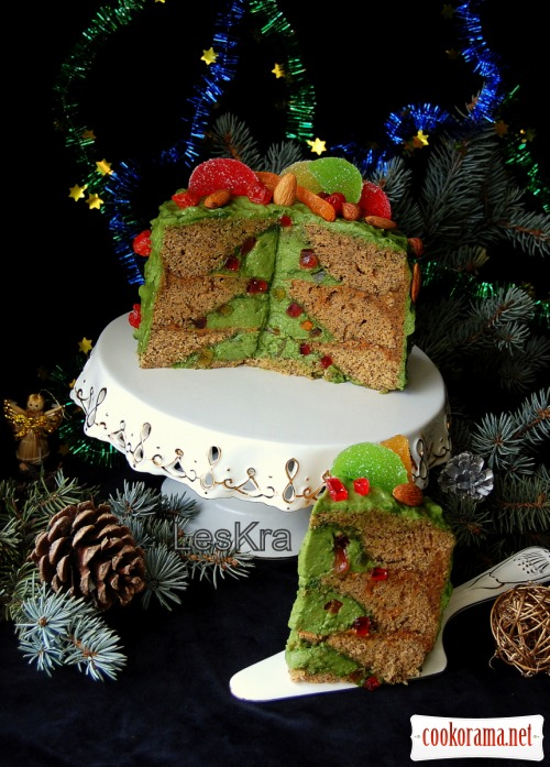Торт «Раз, два, три - елочка, гори»