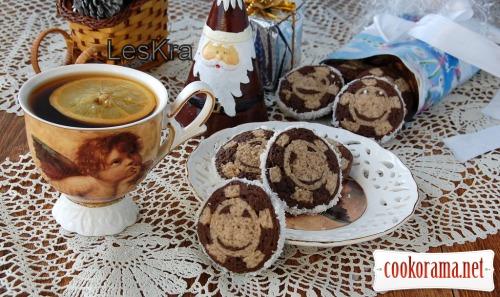 Новогодне-Рождественское печенье «Снежинка»