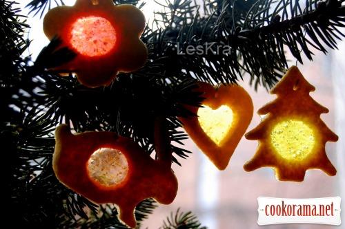 Новорічне печиво «Вітражі»