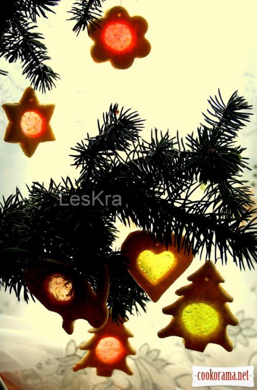 Новогоднее печенье «Витражи»