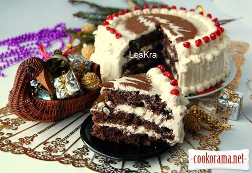 Новорічний торт за 30 хвилин