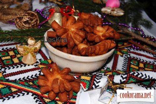 Різдвяні пампухи+бонус хрустики Різдвяні звізди