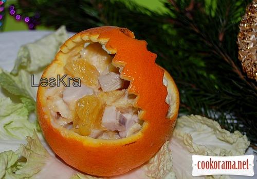 Салат «Курочка в апельсині»