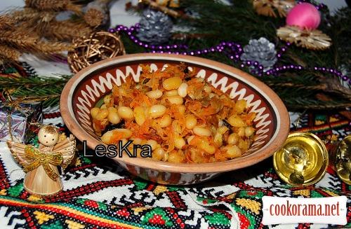 Квашена капуста з квасолею (товчінка)