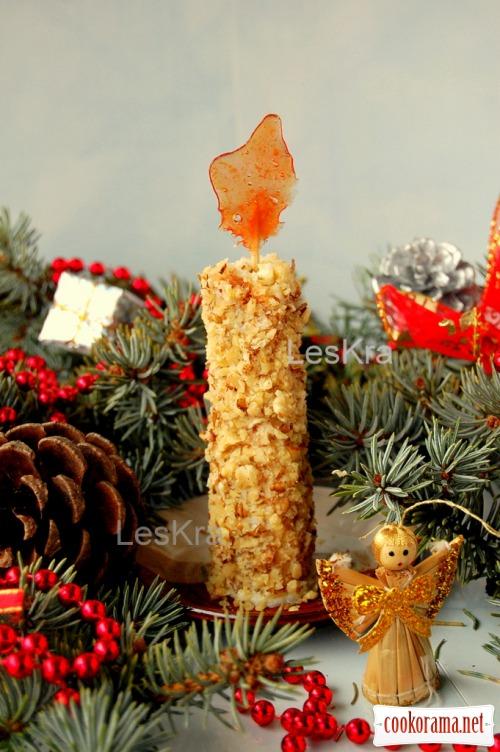 Тістечко «Різдвяна свічка»