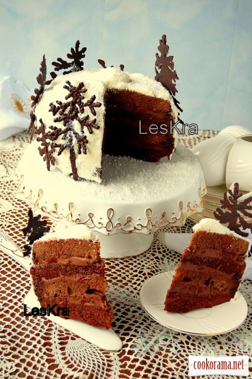 Торт «Вишня в пьяном шоколаде»