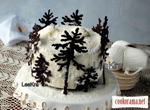 Торт «Вишня в п'яному шоколаді»