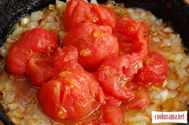 Помідорова зупа з макароном(швидкий варіант)