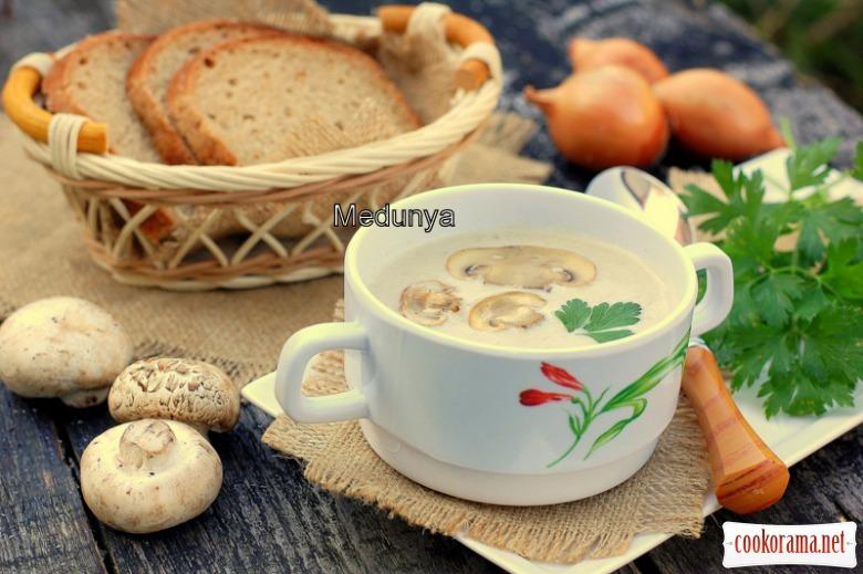 Французький грибний крем-суп