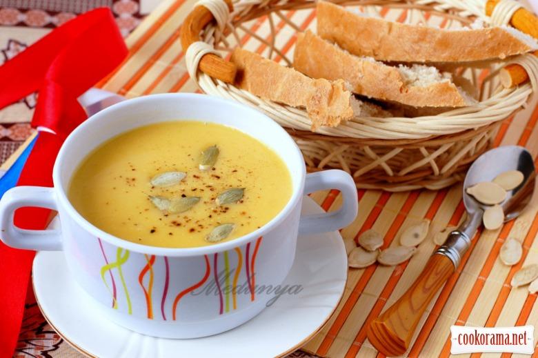 Французький суп-пюре з гарбуза