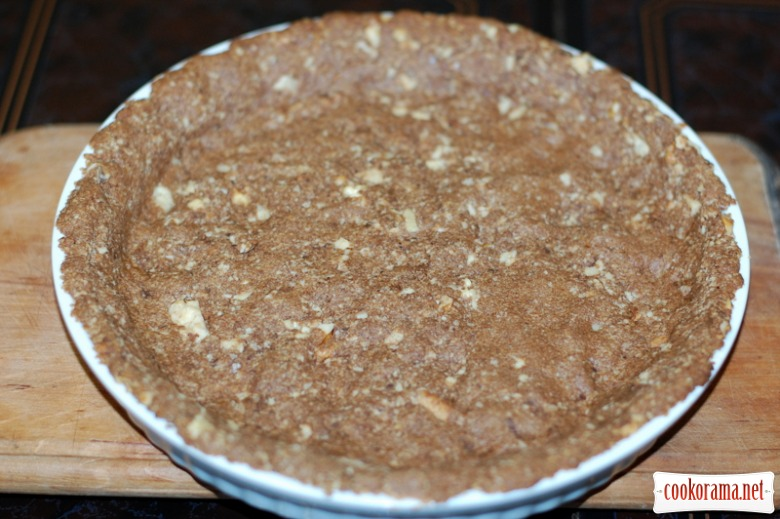 Гарбузовий чізкейк на шоколадно-горіховій подушці
